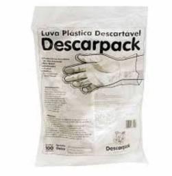 Luva Plástica Descartável pacote 100 un. Ótimo Preço X Qualidade