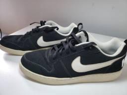 Tênis masculino Nike Court Borough Low - Preto Branco