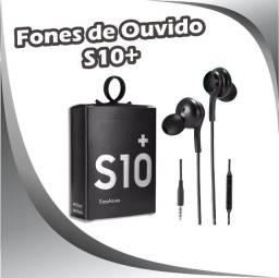 Fones de Ouvido S10 Plus Preto