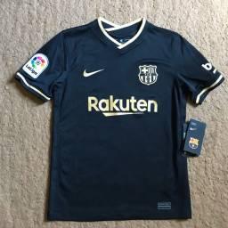Camisa Barcelona Away 20/21 Torcedor Nike-Preta+Dourado