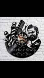 Relógio de parede, Barber Shop, em vinil