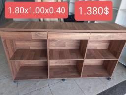 Balcão atendimento caixa recepção 100% MDF novo