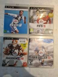3 Jogos PS3 Fifa e Madden NFL