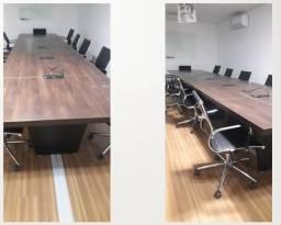 Título do anúncio: Mesa Reunião Para 16 Lugares Com 5 Kits Conectividades E Passagem Interna Para Fiação