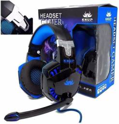(Novo) Headset Gamer Fone Led Knup Ps4, Xbox One, Smartphone, PC, Notebook, Modelo Kp-455a