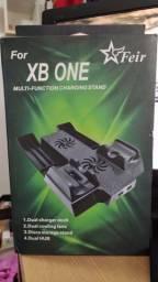 Dock de suporte com cooler  para Xbox one X com carregador de controle