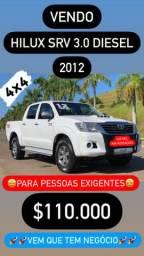 VENDO HILUX SRV 3.0 4x4 DIESEL 2012