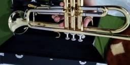 Título do anúncio: Trompete Eagle Em Sib Tr504 com Hard Case E Bocal