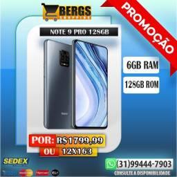 Note 9 Pro Global 6/128GB / Promoção / Ganhe Brinde/ 12x163