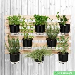Horta Vertical (Treliça, Vasos, Suportes, Substrato, Sementes) - Frete Grátis - [Última]