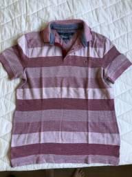 bf05929979 Camisa Polo listrada vermelha Tommy Hilfiger