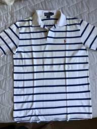 88ee09ebdc Camisa Polo listrada branca Polo Ralph Lauren