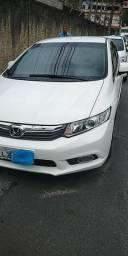 Honda civic 2013/14 lxs branco - 2014