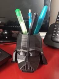 Porta Lápis Darth Vader Geométrico - Decoração 3D