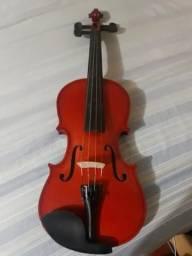 Violino Concert com Case e Espaleira