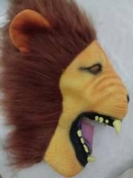 Máscara Cabeça De Leão Latéx Adulto