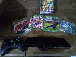 Xbox 360 + Kinect + 1 Controle + Jogos + Desbloqueado