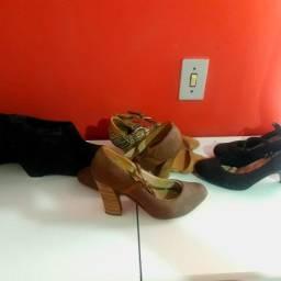 7 pares de calçados femininos