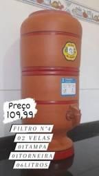 Título do anúncio: FILTRO DE BARRO N°4 COMPLETO