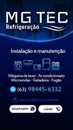 Instalação e manutenção ( ar condicionado, fogão, máquina de lavar e geladeira