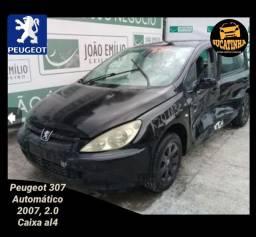 Sucata de Peugeot 307 2.0 automático câmbio al4 para venda de peças e partes