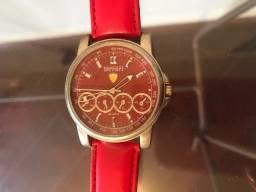 Relógio Ferrari Vermelho Original Funcionando