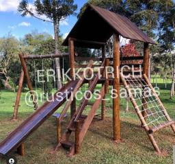Playground madeira tratada Parquinho de madeira