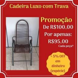 Cadeira Luxo com trava de fio em promoção!