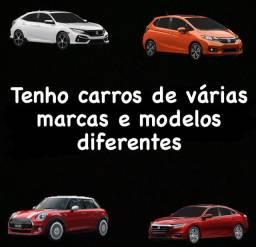 Temos carros de várias marcas e modelos diferentes