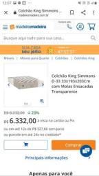 Cama Box com a base Simmons D33