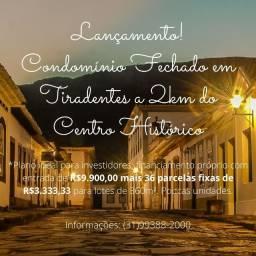 Lançamento. Lotes em Condomínio em Tiradentes. 9.900,00 + Parcelas Fixas
