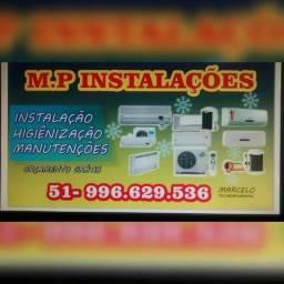 Instalação, higienização, manutenção