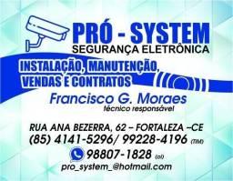 Segurança Eletrônica - Câmeras / Portões/ Cercas - Pró-System. Instalação, manutenção