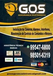 Câmeras, Portao Eletrônico,Alarmes, Interfone e Cercas Eletricas