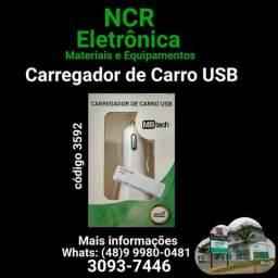 Carregador de carro USB (NOVO)