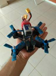 Mini drone com 13 cm com sistema fpv