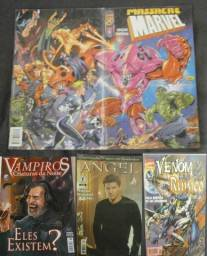 Lote Com 04 Revistas - Massacre Marvel + Angel + Venon vs Rúnico + Vampiros