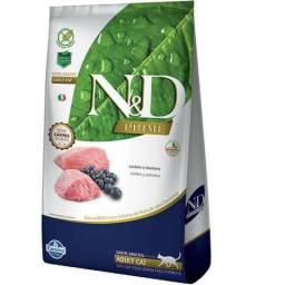 Ração Farmina N&D Prime Cordeiro e Blueberry Gatos Adultos 7,5 kg