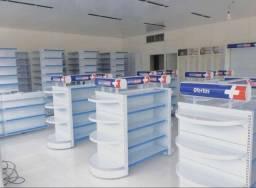Gôndolas e check-out para farmácias