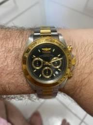 LINDO relógio Invicta aço e ouro Novíssimo