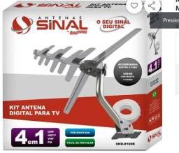 Kit Antena Digital Externa 4 em 1 VHF, FM, UHF e HDTV