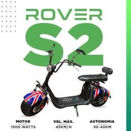 Scooter Elétrica 1500 watts Rover S2 - 2 lugares diversas cores