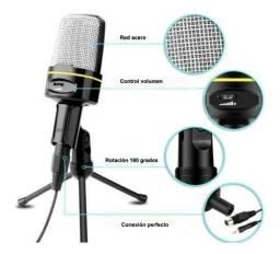 Título do anúncio: Microfone condensador celular Tripe QY 920 Andowl