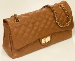 Bolsa feminina nova couro legítimo cores
