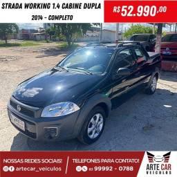 Strada working 1.4 cabine dupla 2014!!