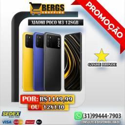 Xiaomi Poco M3 128GB Lançamento - Ganhe Brinde - 12x135