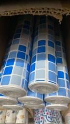Título do anúncio: AutoColante Papel Parede estilo pastilha azul pra cozinha