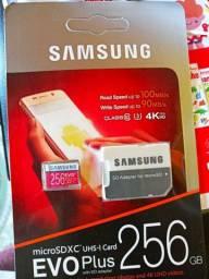 Cartão de memória Samsung 256 GB 100% original.