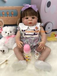 Título do anúncio: bebê reborn maya silicone pronto envio! com enxoval