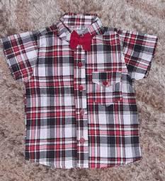 Camisa social xadrez, infantil